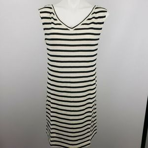 Lou & Grey Med striped v neck sleeveless dress